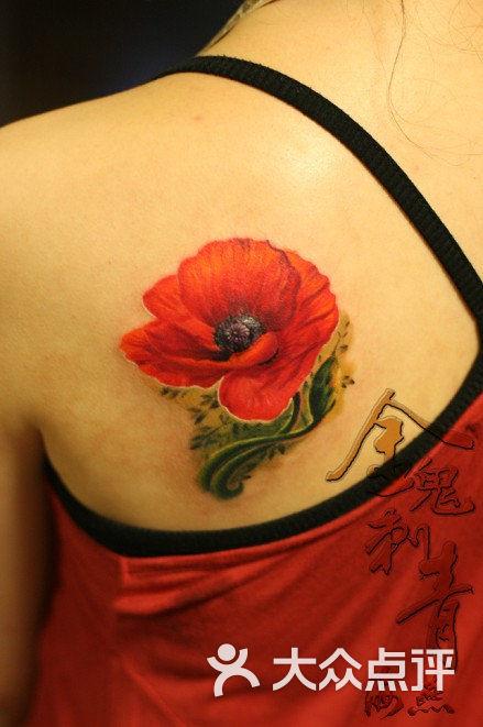 金鬼刺青纹身工作室写实罂粟花图片 - 第993张