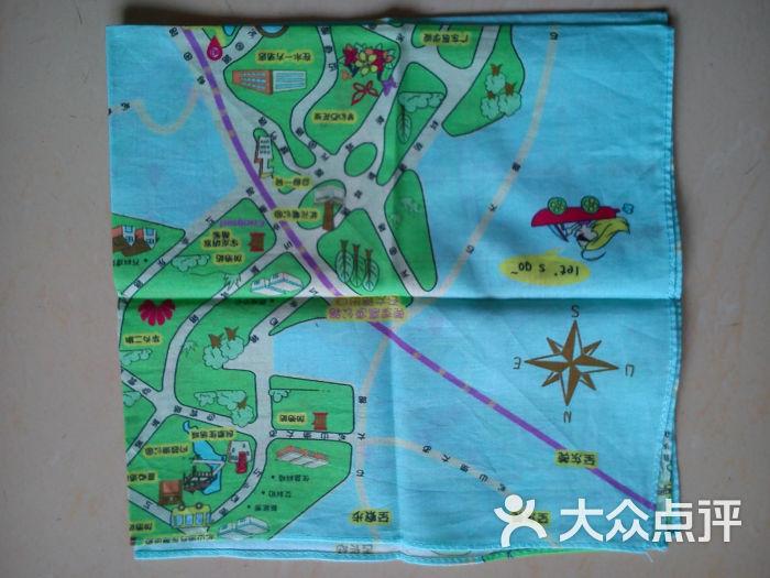 松山湖手绘地图手帕