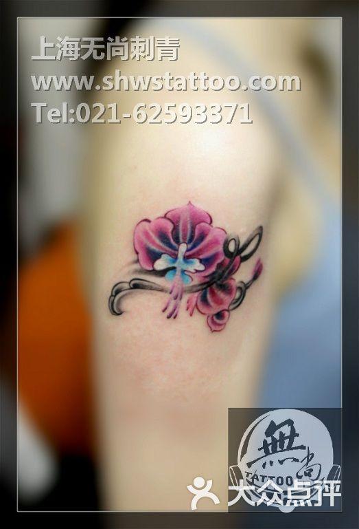 盖疤设计,兰花纹身图案~无尚刺青