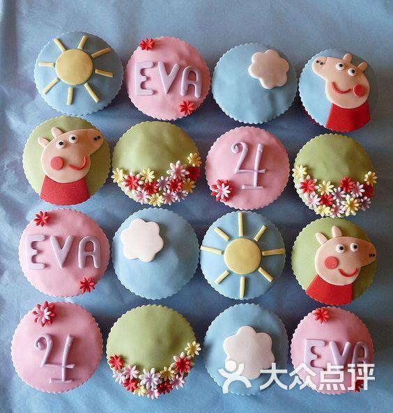 翻糖蛋糕-小墨糖艺-杯子蛋糕-小猪佩奇图片-南宁美食