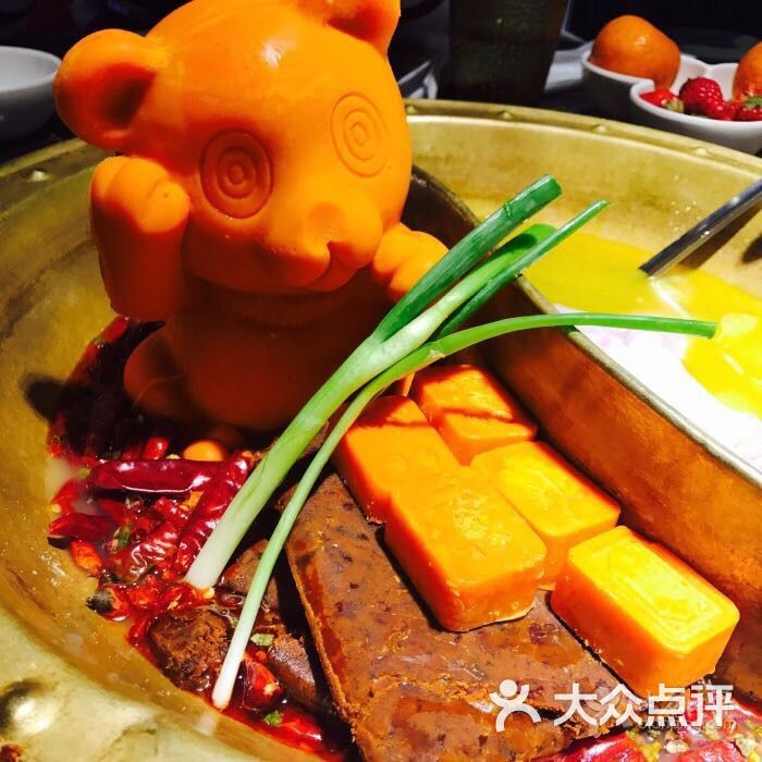 (划重点)火锅的小熊果然让人欣喜,栩栩如生,真是可爱,拍拍拍没商量