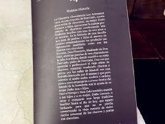 菜单-Churreria - Chocolateria - Los Artesanos 1902