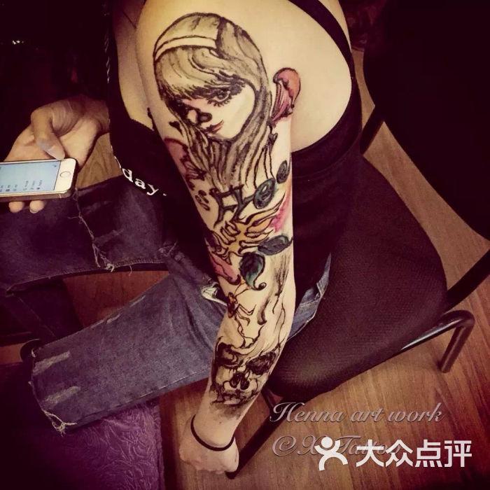 xtattoo海娜纹身工作室印度海娜手绘图片 - 第68张