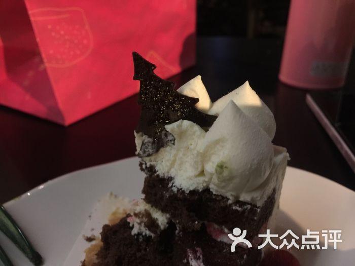 星巴克(诚品店)黑森林慕斯蛋糕图片 - 第3张