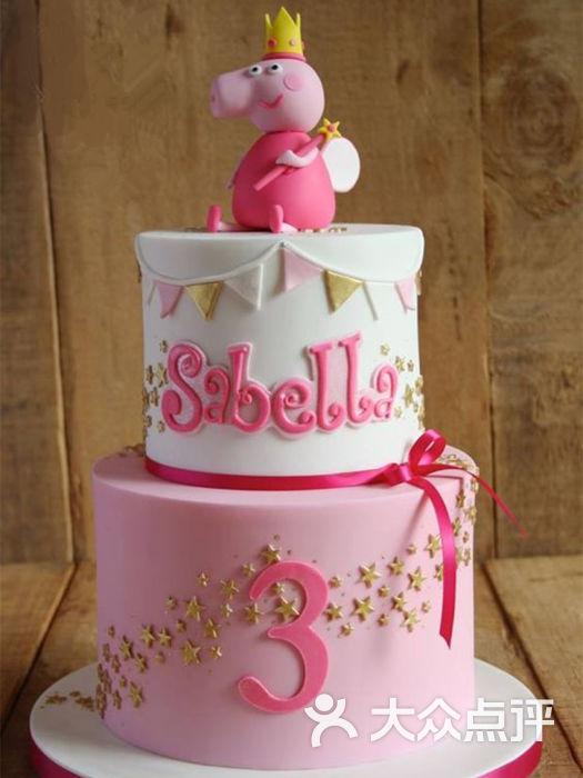 翻糖蛋糕-小墨糖艺-翻糖蛋糕-小猪佩奇图片-南宁美食
