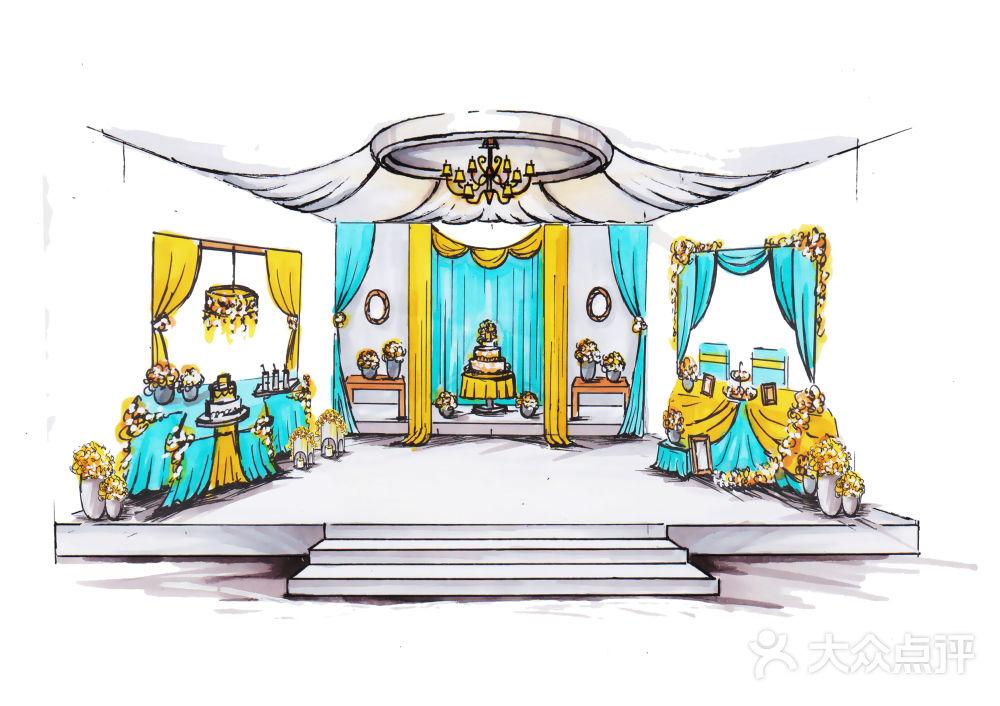 婚礼设计手绘图-dreamwedding创意婚礼定制-苏州结婚