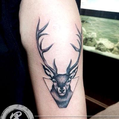 宁波 鹿纹身款式图