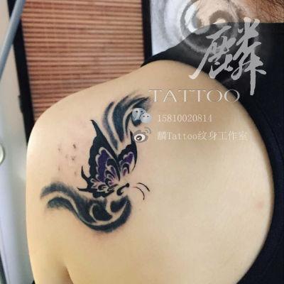 小蝴蝶纹身款式图
