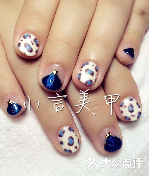 hello nail日系美甲美睫沙龙(小言美甲分店)磨砂豹纹图片 - 第94张