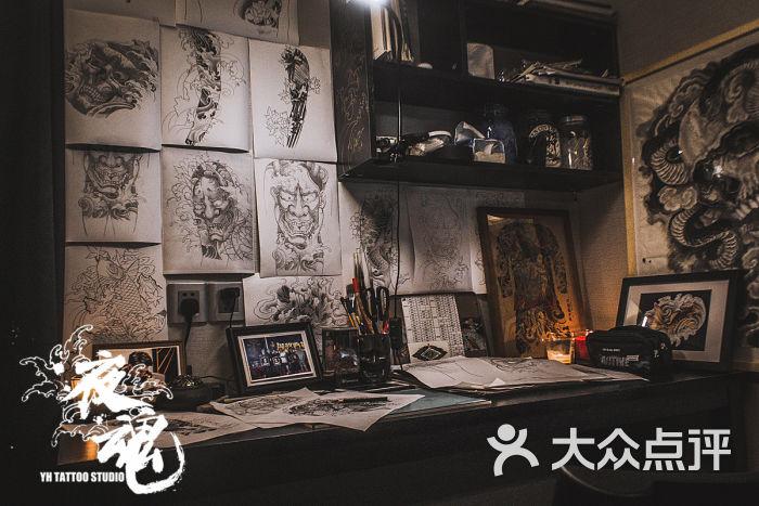 纹身店装修效果图
