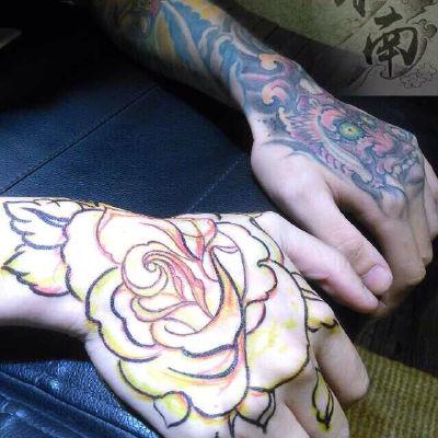玫瑰花纹身图