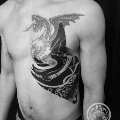 大图腾未完 勇原创纹身款式图
