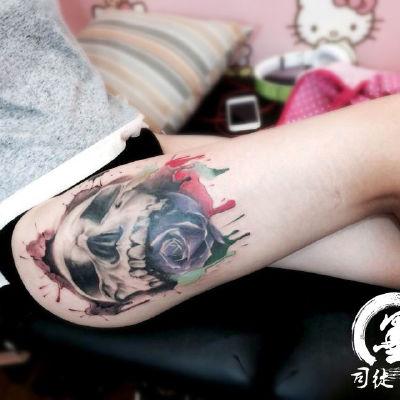 宁波 骷髅纹身款式图