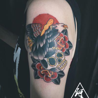 老鹰纹身款式图