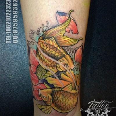 鱼纹身款式图
