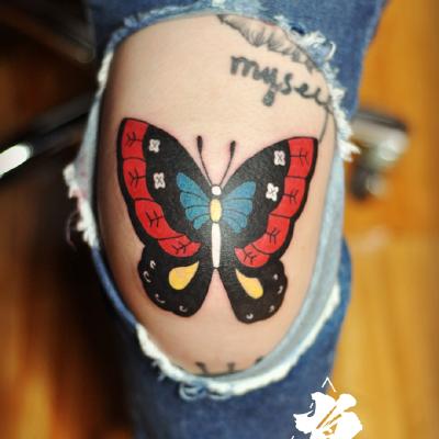 蝴蝶school风纹身款式图