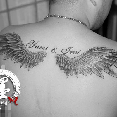 宁波 翅膀纹身款式图