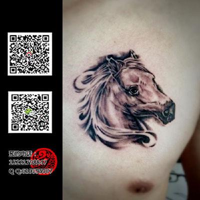 马头纹身款式图