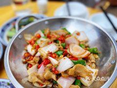 光腦殼家常菜館面粉的干鍋肥腸