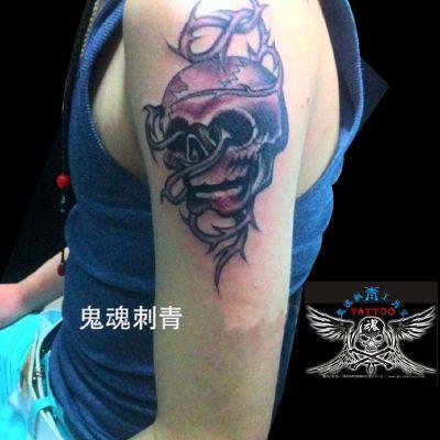 骷髅刺青纹身图