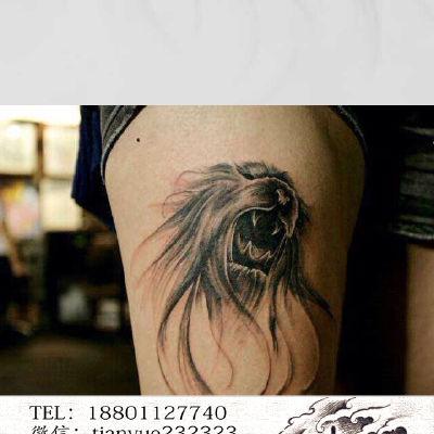 狮子纹身图