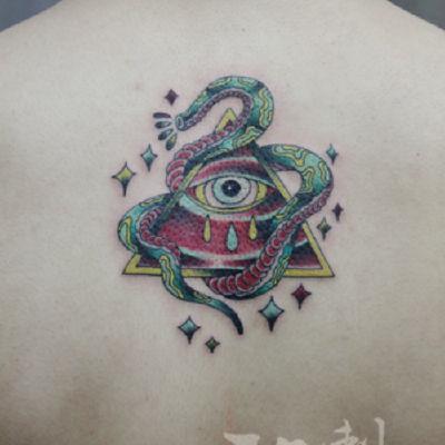 印象刺青-蛇眼纹身款式图