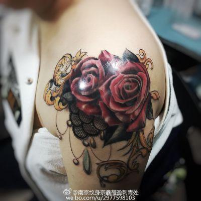 欧美写实纹身款式图