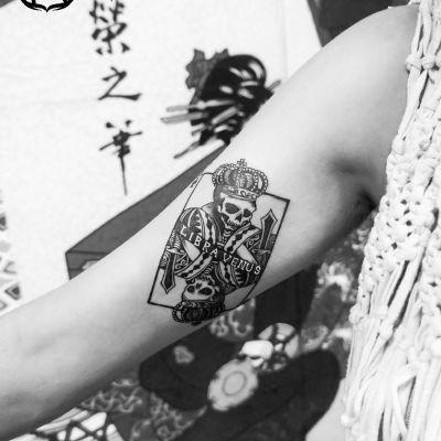 设计扑克图腾纹身款式图