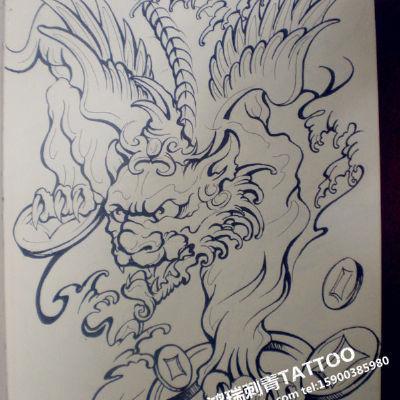 龙纹身款式图