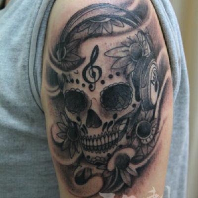 印象刺青-骷髅纹身款式图