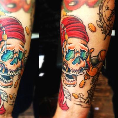 骷髅海盗纹身款式图