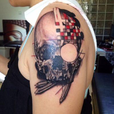 大臂纹身款式图