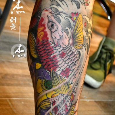 鲤鱼纹身款式图