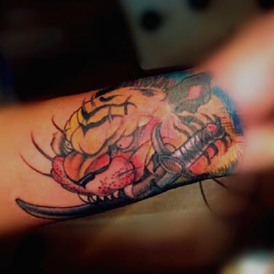老虎纹身款式图