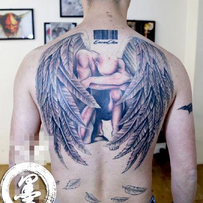 宁波 守护天使纹身款式图