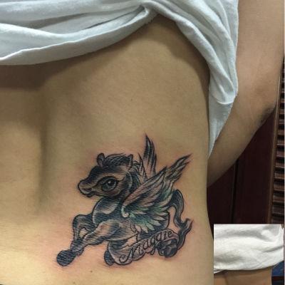 飞马遮盖纹身款式图