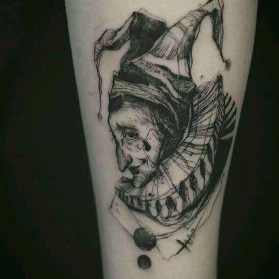 女巫刺青纹身图