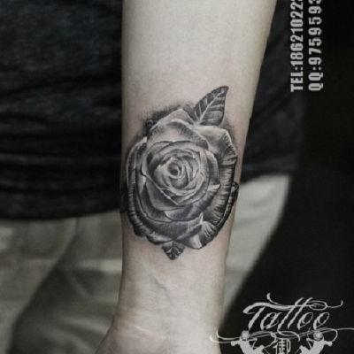 玫瑰纹身图