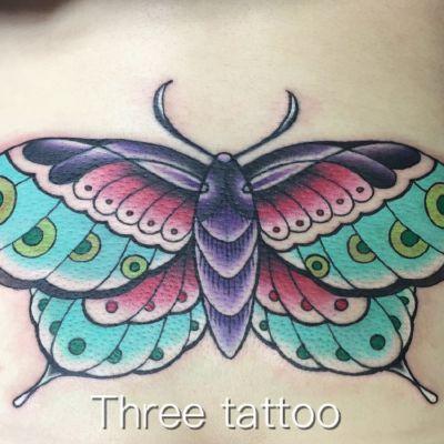 覆盖 蝴蝶纹身款式图