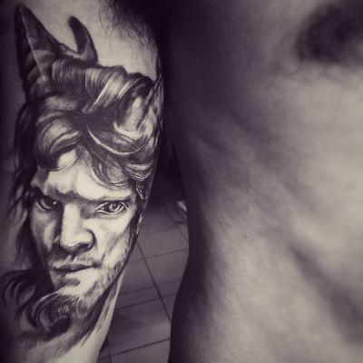 欧美写实恶魔纹身款式图