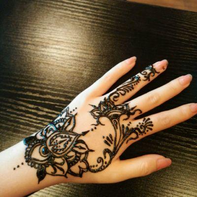 唯美手部图腾性感风格纹身图