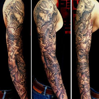 原创花臂纹身款式图