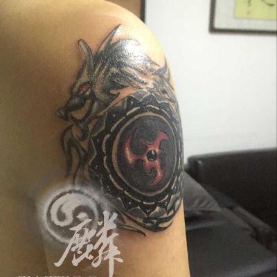 图腾龙纹身款式图