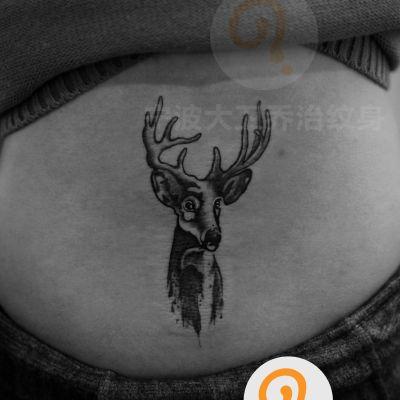 鹿头纹身款式图