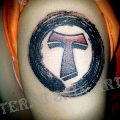 大臂外侧设计作品纹身款式图