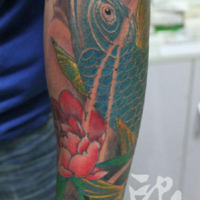 印象刺青-小臂鲤鱼纹身图