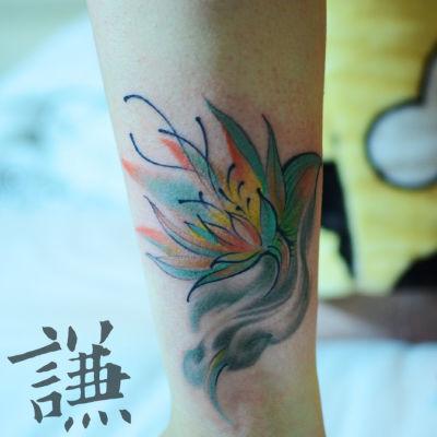彩色小图纹身款式图