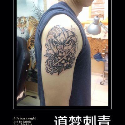 猫头鹰纹身图