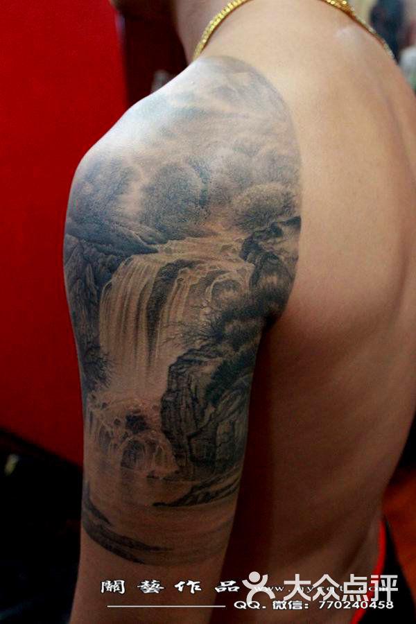 杜江纹身图案_纹身背景山水小臂_纹身背景山水小臂分享展示