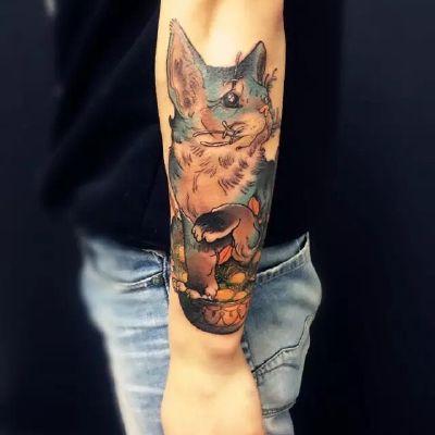 猫咪纹身图